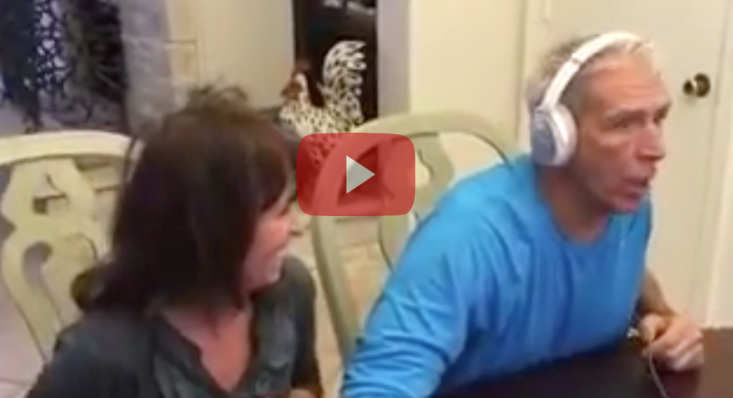 See How This Couple Announced They Were Pregnant - The Look on the Grandfather's Face is Priceless!