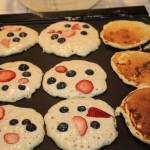 Birthday Breakfast -- Red White and Blue Pancakes!