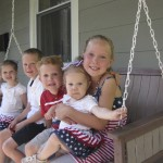 Annual Porch Swing 4th of July shot.  This was the best of the bunch.