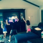 Just Dance game on the Wii
