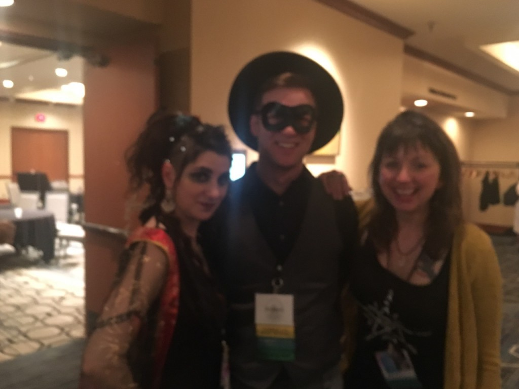 Tempest, Dodie, and I (blurry photo by Jason Mankey)