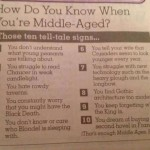 10 Signs You're Middle Aged