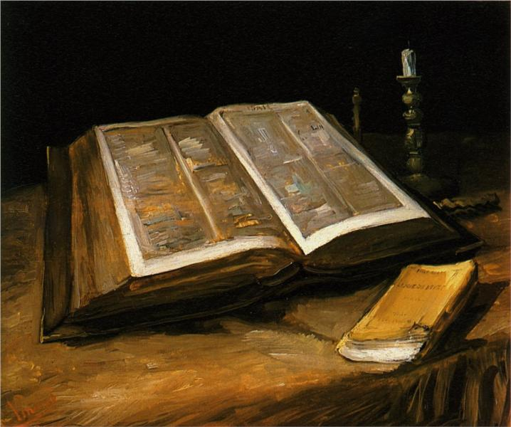 Van Gogh, Still Life with Bible, 1885.