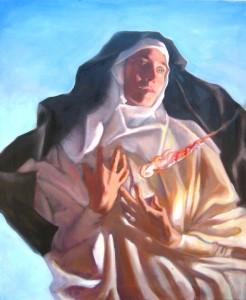 """Beatrice of Nazareth"" by Catholic artist Gwyneth Holston. Used by permission. www.gwynethholston.com"