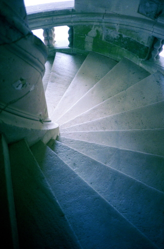 Spiral Staircase in the Château d'Amboise, photographed by Mel Lewis