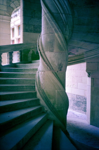 Spiral Staircase in the Château d'Amboise. Photo by Mel Curtis.