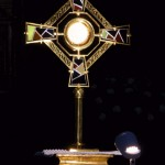 Thoughts are to contemplative silence like a monstrance is to the Host