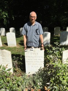 Here I am visiting the resting place of Pierre Teilhard de Chardin — but that was last summer, who knows where I'll end up this year? (Photo by Matthew Wright)
