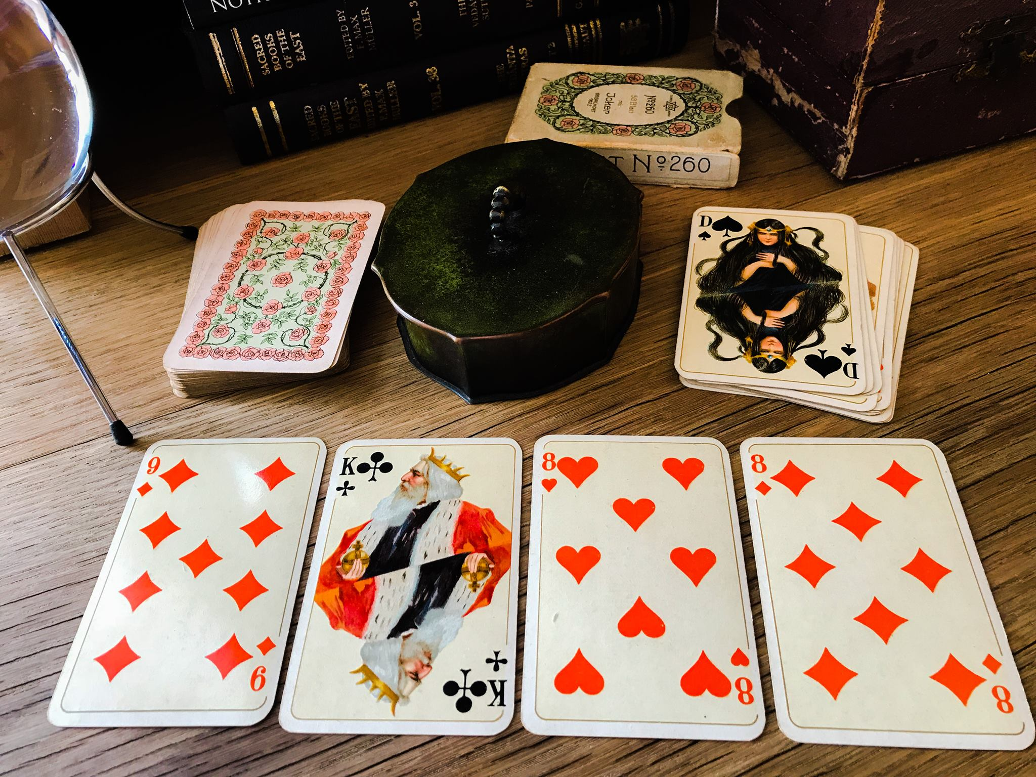Otto Tragy playing cards, 1905. Originals in author's collection