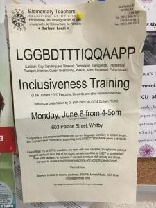 The Canadian Elementary Teachers Federation of Ontario hosted a LGGBDTTTIQQAAPP inclusiveness training on June 6