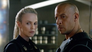 "CHARLIZE THERON and VIN DIESEL in ""The Fate of the Furious."" On the heels of 2015's ""Furious 7,"" one of the fastest movies to reach $1 billion worldwide in box-office history and the sixth-biggest global title of all time, comes the newest chapter in one of the most popular and enduring motion-picture serials of all time."