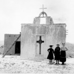 """Children in their Sunday clothes pose in front of adobe church, Alamo National Forest, N. Mex. Terr. [now Lincoln National Forest]. By A. M. Neal, May 13, 1908."" Image: Marion Doss via Flickr (CC BY-SA 2.0)."