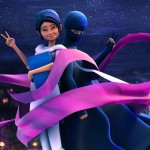 Mild-mannered teacher by day, masked superhero by night, the Burka Avenger fights corruption and oppression, and aims to empower the girls of Pakistan. (Picture: Unicorn Black Studios, via npr.org)