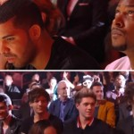 Reaction shots of Miley's performance.