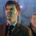 The Tenth Doctor (David Tennant), left, with a previously unknown doctoral incarnation (John Hurt) in the 50th anniversary special.