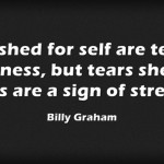 Billy Graham Tears Shed Quote