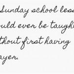 How to Teach a Sunday School Lesson