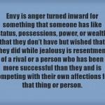 Envy vs Jealousy