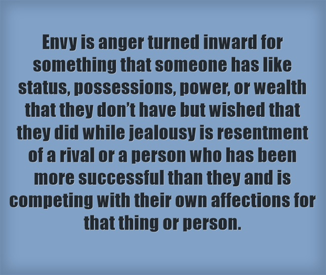 Envy vs Jealousy