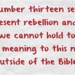 Number 13 in the Bible