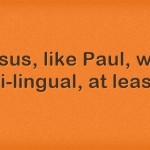 Jesus, Language, Speak