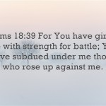 Bible verses about being a warrior