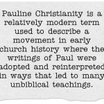 What is Pauline Christianity