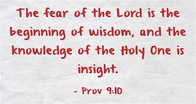 The Holy Fear of the LORD- Part II | Advancing Christ's ...