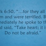 Bible verses about being afraid