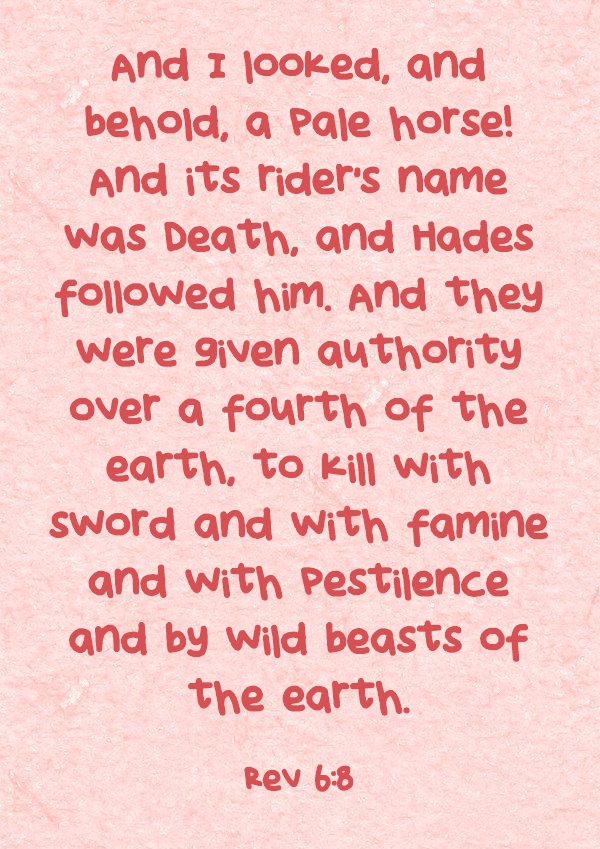 What Does The Pale Horse Mean Or Represent In The Book Of Revelation