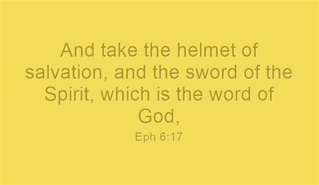 What Is The Sword Of The Spirit?