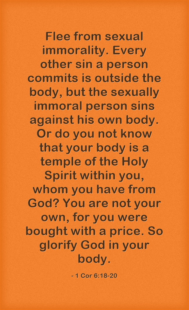 Second virginity bible verse