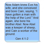 A Sunday School Lesson On Cain and Abel