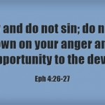 A Sunday School Lesson On Anger