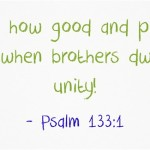 A Sunday School Lesson On Unity