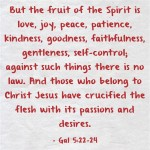 A Sunday School Lesson On The Fruits Of The Spirit