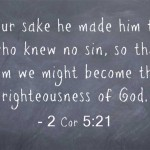 A Sunday School Lesson On Sin