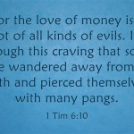 How A Christian Can Overcome A Love Of Money