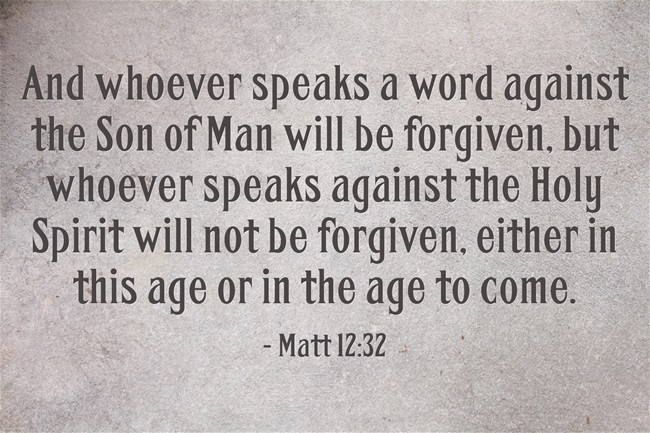 what is the unforgivable sin In matthew 12:22-32 (and mark 3:22-30), jesus explains the unpardonable sin—the one sin that god will not forgive: therefore i tell you, every sin and blasphemy will be forgiven people, but the blasphemy against the spirit will not be forgiven and whoever speaks a word against the son of man .