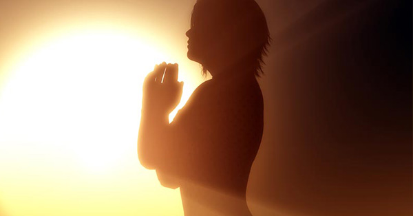 praying-woman-silhouette
