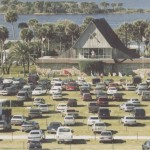 Worship service at a drive-in church in Florida