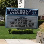 "Church Sign Epic Fails, ""Arrogant Rabbis"" Edition"