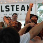 "Photo from Wild Goose Festival ""Beer and Hymns"" by Cathleen Falsani."