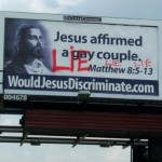 """You know, this message would have been more effective if they hadn't gone and spray-painted """"LIE"""" all over it. Duh!"""