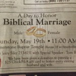 "Church Sign Epic Fails, ""Biblical Marriage"" Edition"