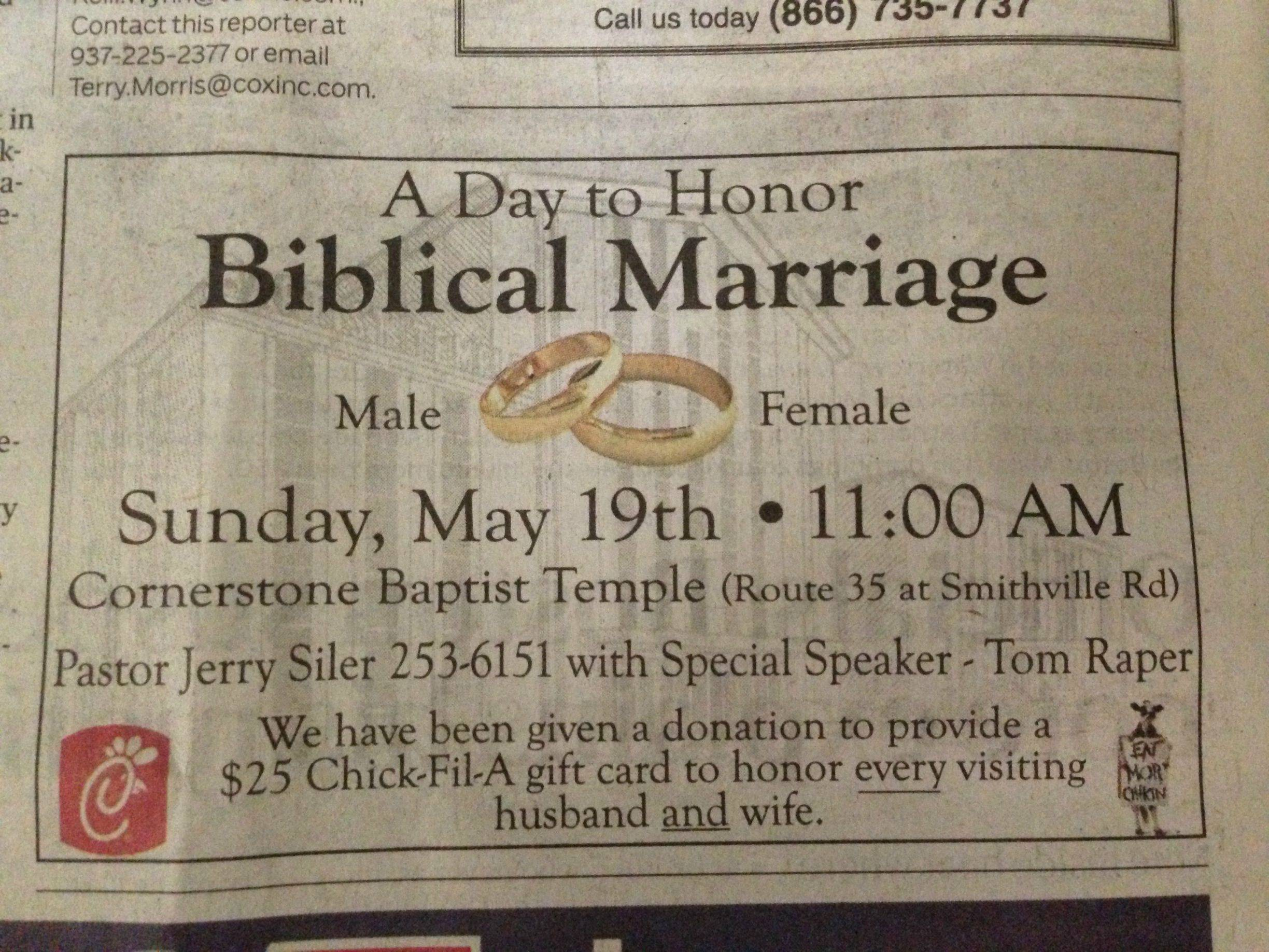 "Christian Marriage Quotes Church Sign Epic Fails ""biblical Marriage"" Edition"
