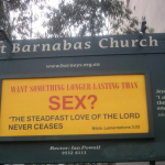 "Church Sign Epic Fails, ""Longer Than Sex"" edition"