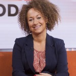 "In this image released by NBC News, former NAACP leader Rachel Dolezal appears on the ""Today"" show set on Tuesday, June 16, 2015, in New York. Dolezal, who resigned as head of a NAACP chapter after her parents said she is white, said Tuesday that she started identifying as black around age 5, when she drew self-portraits with a brown crayon, and ""takes exception"" to the contention that she tried to deceive people. Asked by Matt Lauer if she is an ""an African-American woman,"" Dolezal said: ""I identify as black."" (Anthony Quintano/NBC News via AP)"