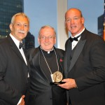 (l to r) Ken Schroy (Vice Chairman of The Marty Lyons Foundation), Msgr. Peter Finn (The Christophers' Board of Directors), and Marty Lyons (James Keller Award winner)