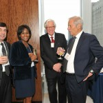 "(From l to r) Kevin Tedesco (Publicist, ""60 Minutes""), Producer Magalie Laguerre-Wilkinson (Winner, ""60 Minutes: Joy in the Congo""), NBC News correspondent Bob Dotson (Presenter of the Books for Adults category), Correspondent Bob Simon (Winner,, ""60 Minutes: Joy in the Congo"")"